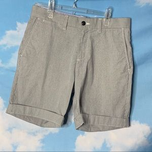 Tommy Hilfiger- Gray Striped Cuffed Shorts size 30